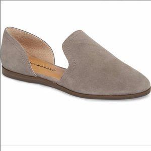 Women's Gray Lucky Brand Suede Flats